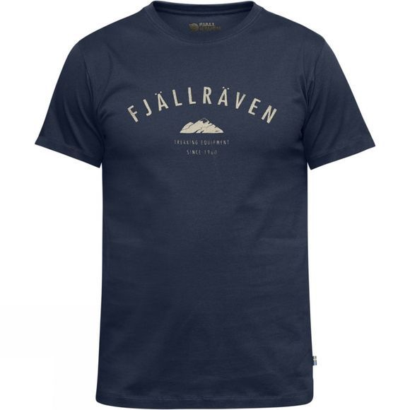 Fjallraven Fjall Mens Trekking Equipment T-shirt Dark Navy