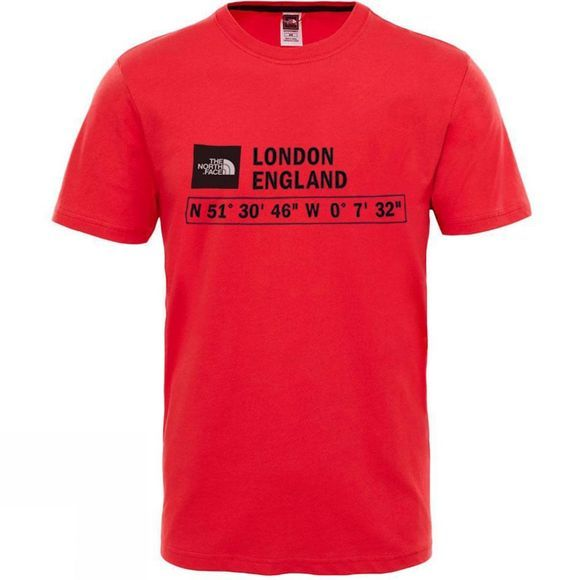The North Face Mens GPS T-Shirt TNF Red