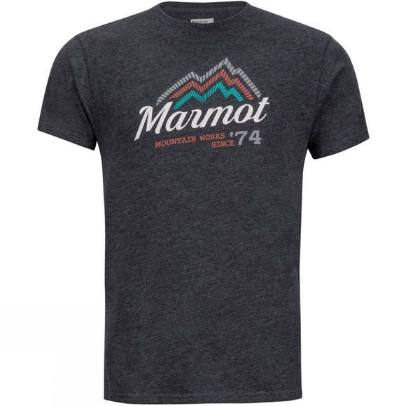 Marmot Mens Beams Tee Charcoal Heather