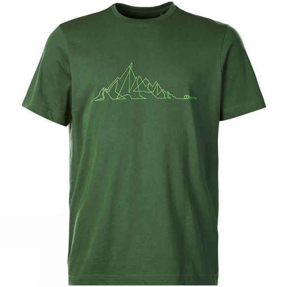 Berghaus Mens Mountain Line T Shirt Kale
