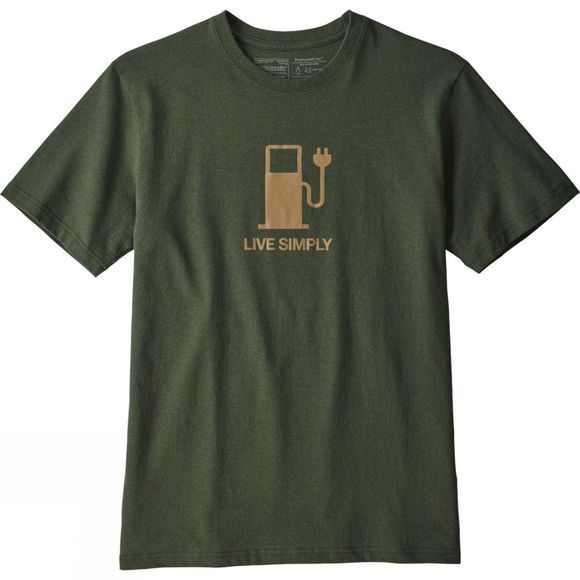 Patagonia Mens Live Simply Power Responsibili-Tee T-Shirt Nomad Green