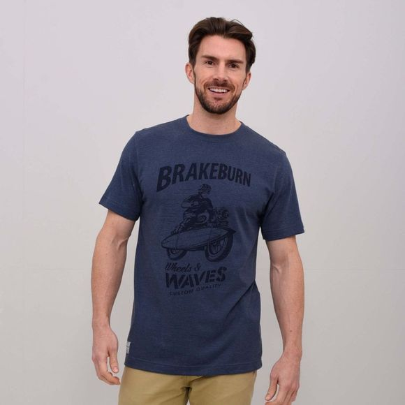 Mens Wheels & Waves T-Shirt