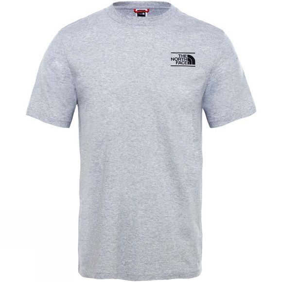 The North Face Mens Short Sleeve Mountain Exploration T-Shirt TNF Light Grey Heather