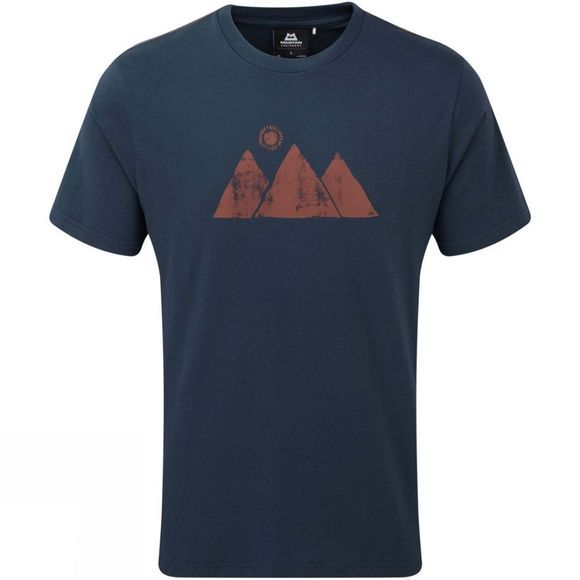 Mountain Equipment Mens Mountain Sun Short Sleeve T-Shirt Ombre Blue