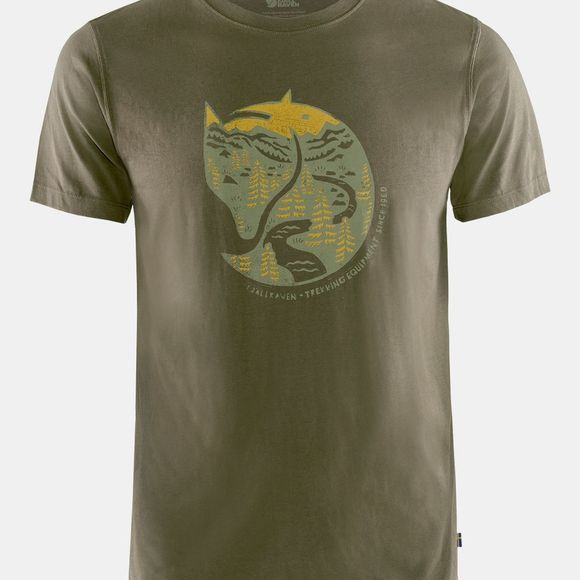 Fjallraven Mens Arctic Fox T-Shirt Dark Olive