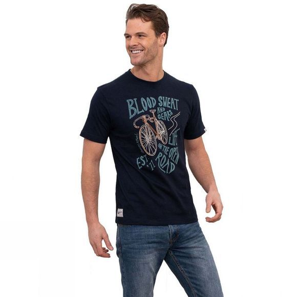 Brakeburn Men's Blood and Sweat and Gears Tee NAVY