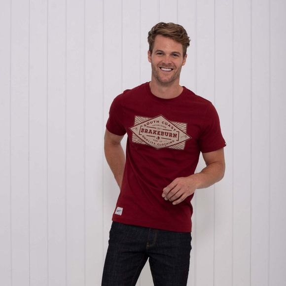 Brakeburn Mens Surf Co Tee Red