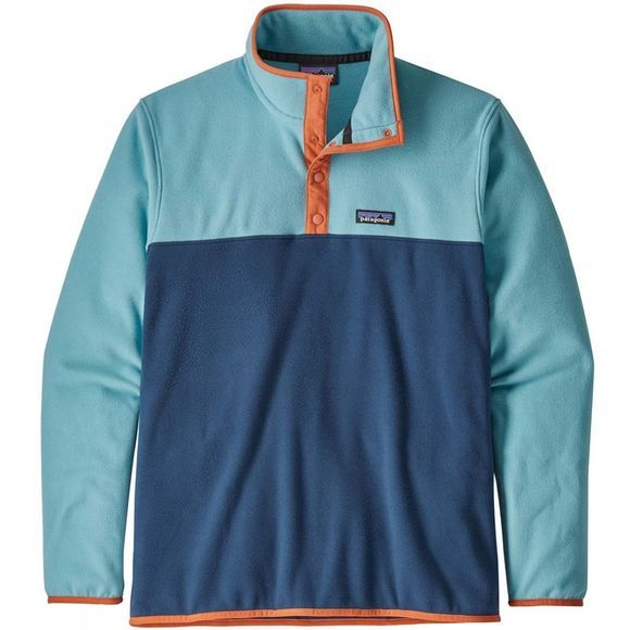 Patagonia Mens Micro D Snap-T Pullover Stone Blue/Dam Blue