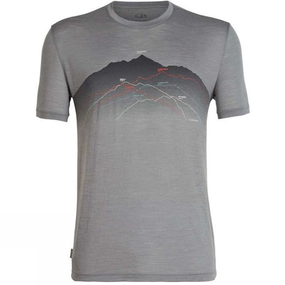 Icebreaker Mens Spector Short Sleeve Crewe T-Shirt Seven Summits Timberwolf