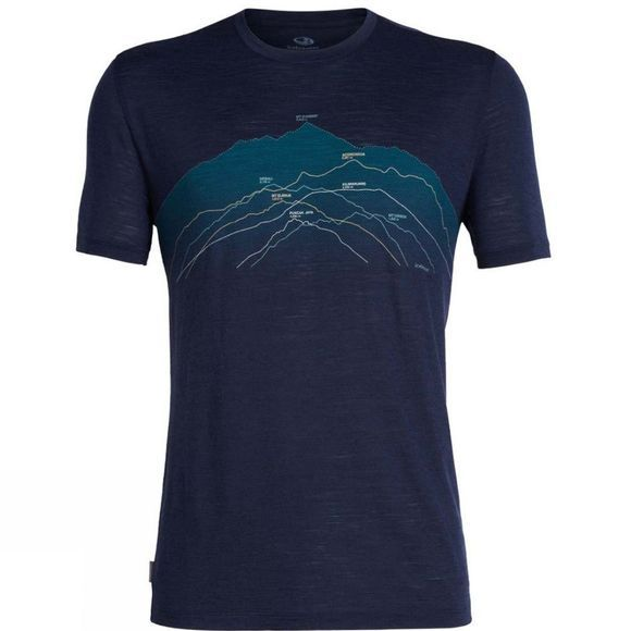 Icebreaker Mens Spector Short Sleeve Crewe T-Shirt Seven Summits/ Midnight Navy