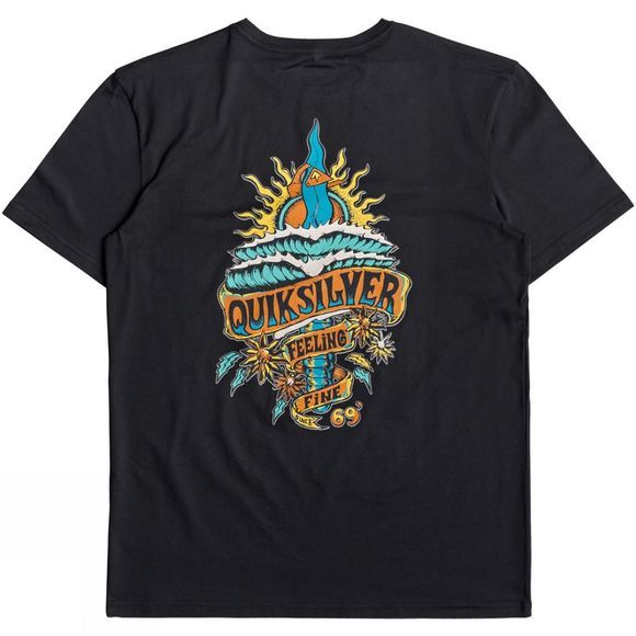 Quiksilver Mens Tattered Short Sleve T-Shirt Black