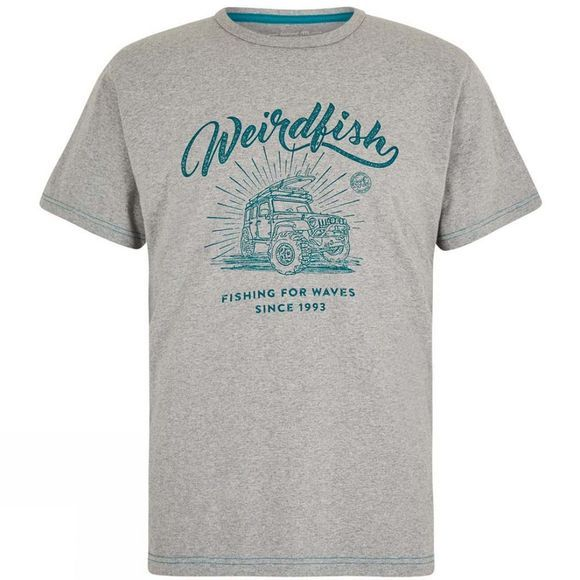 Weird Fish Mens Surf School Short Sleeve T-Shirt Grey Marl