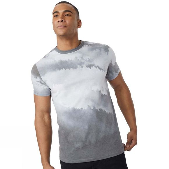 Tentree Mens Foggy Mountains Tee FOGGY MOUNTAIN BLACK SUB