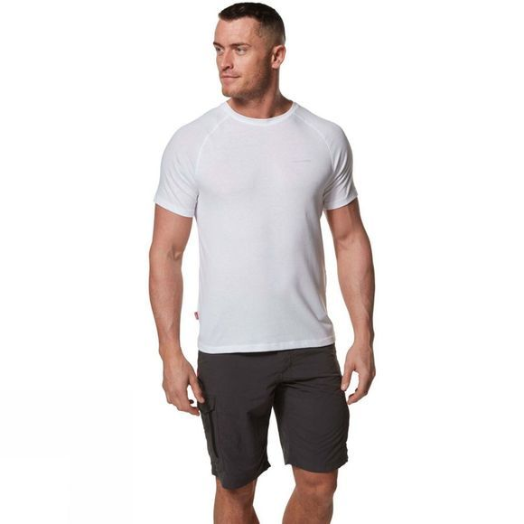 Craghoppers Mens Nosilife Anello Short Sleeved T-Shirt Optic White