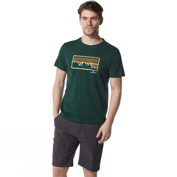 Craghoppers Mens Calvino Short Sleeve T-Shirt Mountain Green Mountainscape