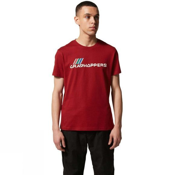 Craghoppers Mens Lowood Short Sleeve T-Shirt Firth Red