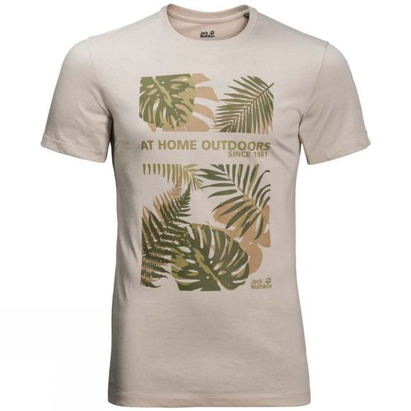 Jack Wolfskin Mens Palm Cove Tee Dusty Grey