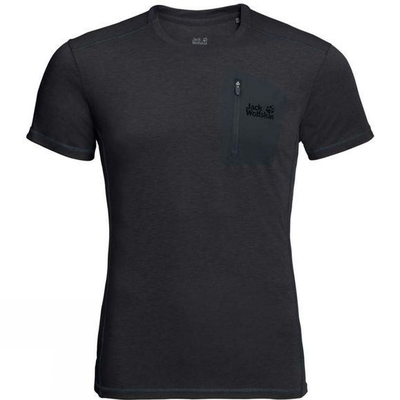 Jack Wolfskin Mens Somers Track Tee Black