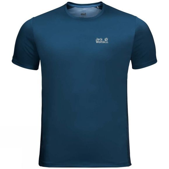 Jack Wolfskin Mens Wilderness Tee Poseidon Blue