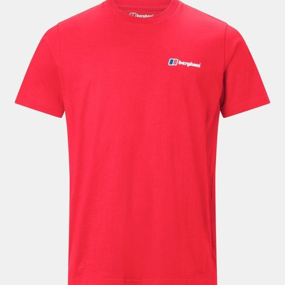 Berghaus Mens Corporate Logo Tee Haute Red