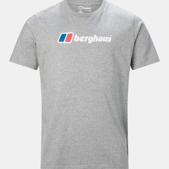 Berghaus Mens Big Corporate Logo Tee Grey Marl