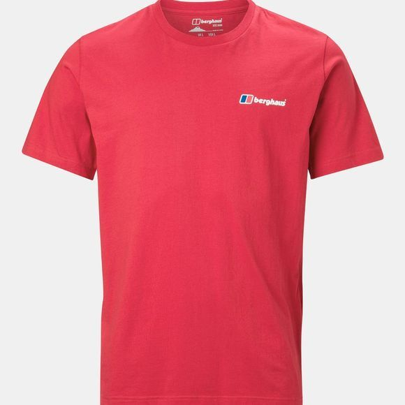 Berghaus Mens Front & Back Logo Tee Haute Red