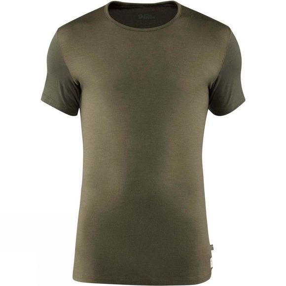 Fjallraven Men's Keb Wool T-Shirt Laurel Green / Deep Forest