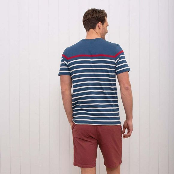 Brakeburn Men's Breton Stripe Tee Royal Blue