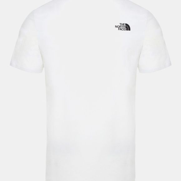 The North Face Mens Short Sleeve Flash Tee TNF White/TNF Black