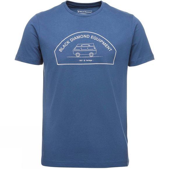Black Diamond Mens Rock Van Tee Ink Blue