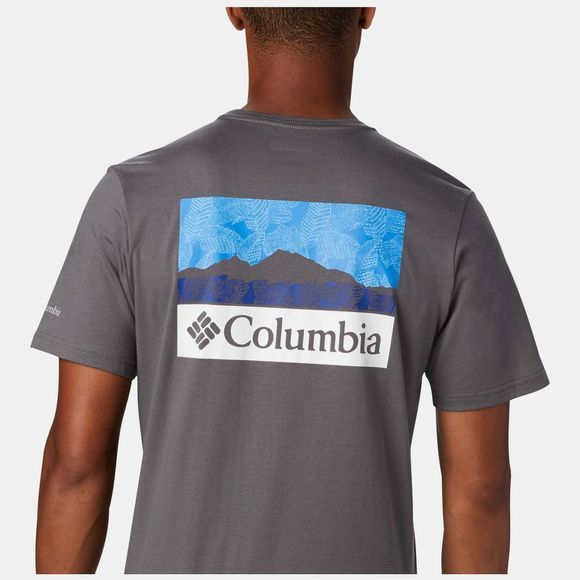 Columbia Mens Rapid Ridge Graphic T-Shirt City Grey, CSC Leafscape