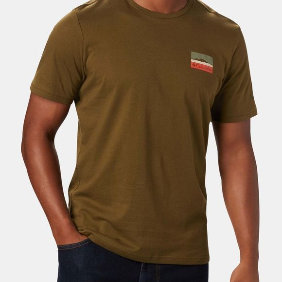 Columbia Mens Rapid Ridge Graphic T-Shirt New Olive,  CSC Leafscape