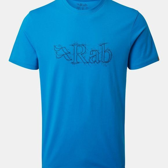 Rab Mens Stance Sketch T-shirt Malibu Blue