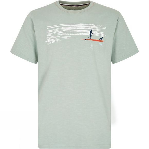 Weird Fish Mens Sup Dog Battersea Graphic Tee Pistachio