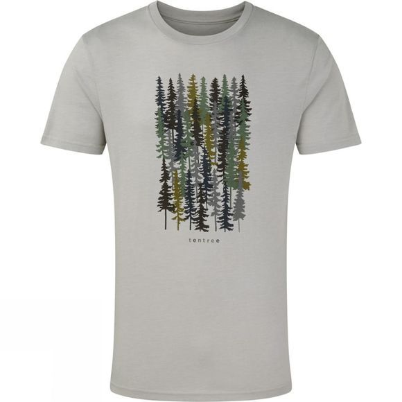 Tentree Mens Spruced Up T-shirt Hi Rise Grey Heather