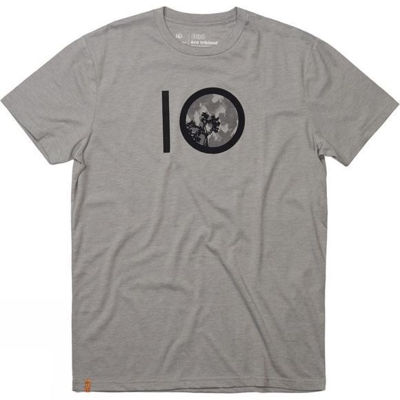 Tentree Leaves Ten Short Sleeve Tee Hi Rise Grey Heather