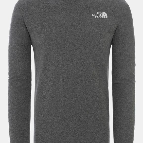 The North Face Mens Long Sleeve Easy Tee  Tnf Medium Grey Heather