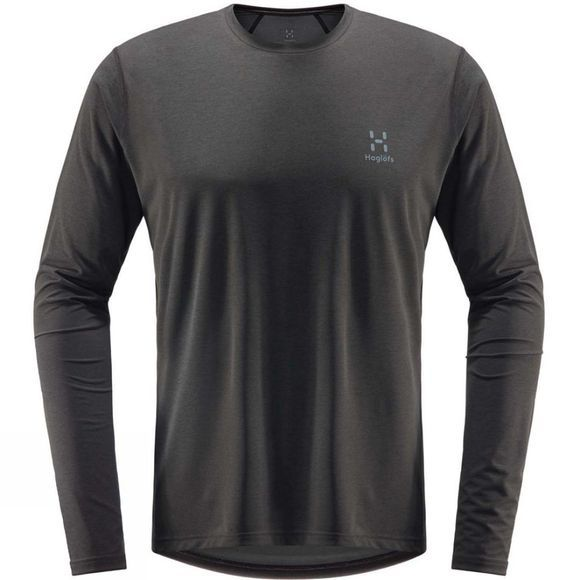 Haglofs Mens Ridge Long Sleeve T-Shirt Magnetite