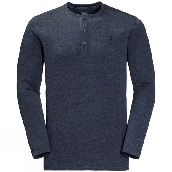 Jack Wolfskin Mens Moro Henley Shirt Night Blue
