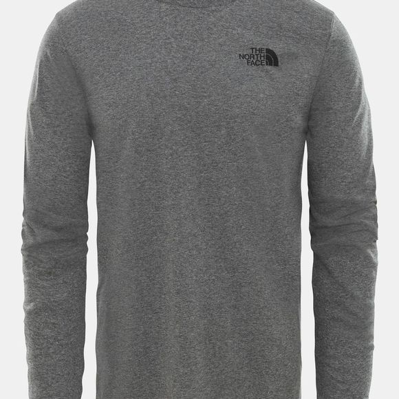 The North Face Mens Long Sleeve Simple Dome T-Shirt TNF Medium Grey Heather