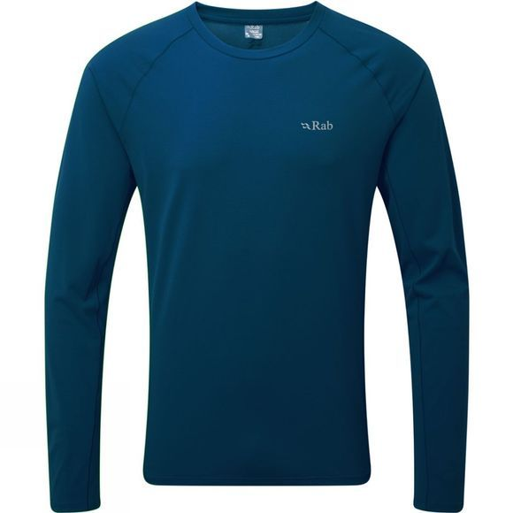 Rab Mens Force Long Sleeve Tee Ink