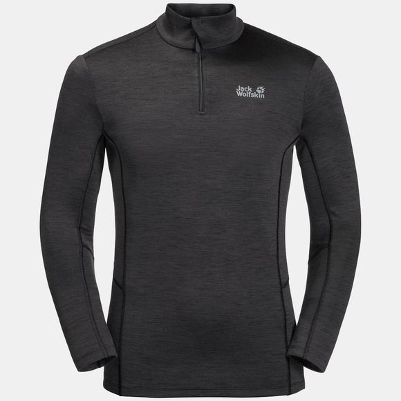 Jack Wolfskin Mens Arctic Xt Half Zip Top Black