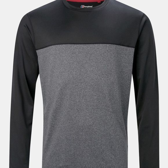 Berghaus Mens Voyager Long Sleeve Crew Jet Black / White