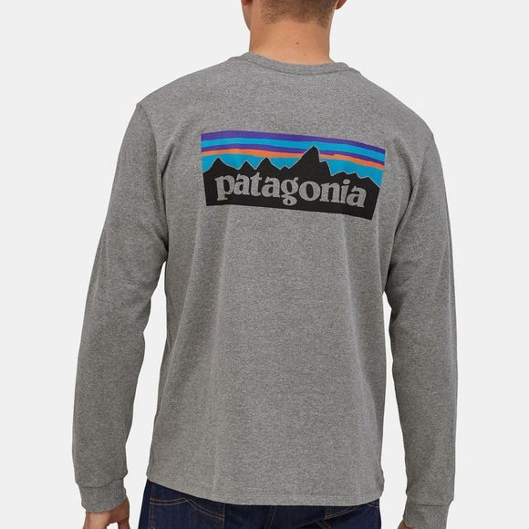 Patagonia P-6 Logo Responsibili Long Sleeve Tee Gravel Heather