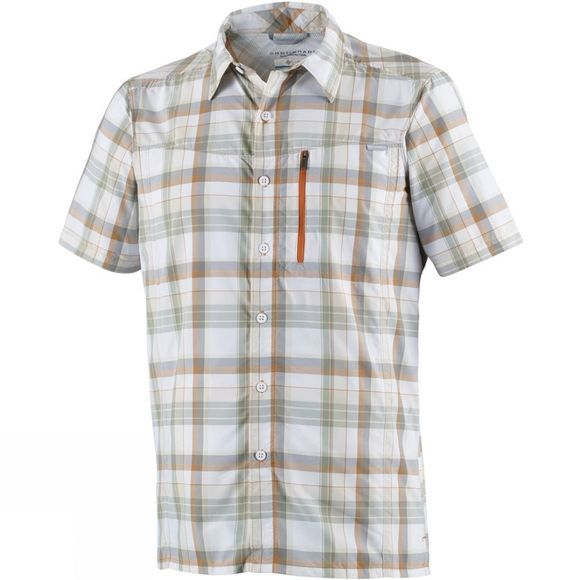 Columbia Mens Silver Ridge Plaid Short Sleeve Shirt Valencia Plaid