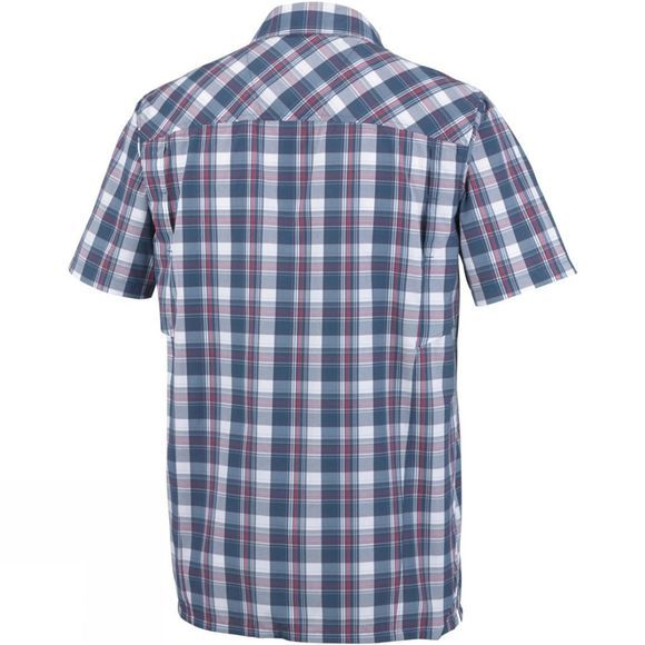 Columbia Mens Silver Ridge Plaid Short Sleeve Shirt Whale Plaid