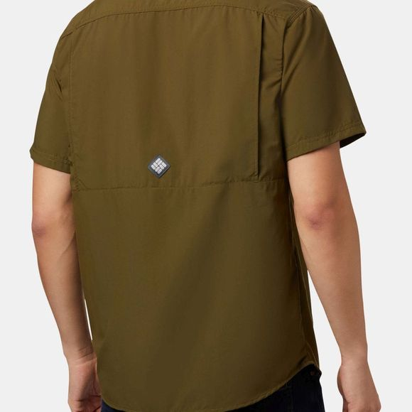 Columbia Men's Cascades Explorer Short Sleeve Shirt New Olive