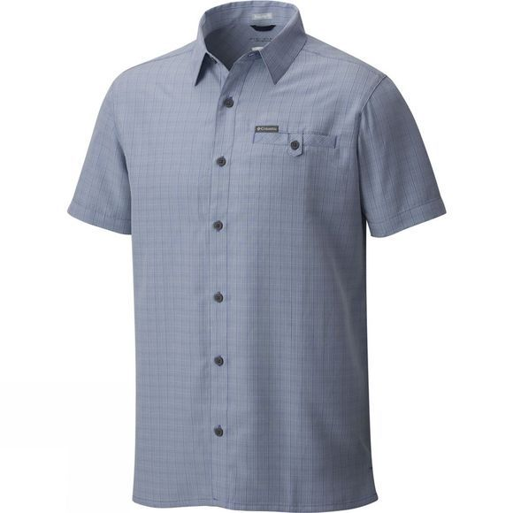 Columbia Mens Declination Trail II Short Sleeve Shirt Steel Ombre