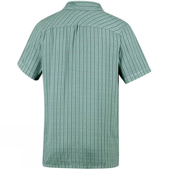 Columbia Mens Declination Trail II Short Sleeve Shirt Cool Green Stripe