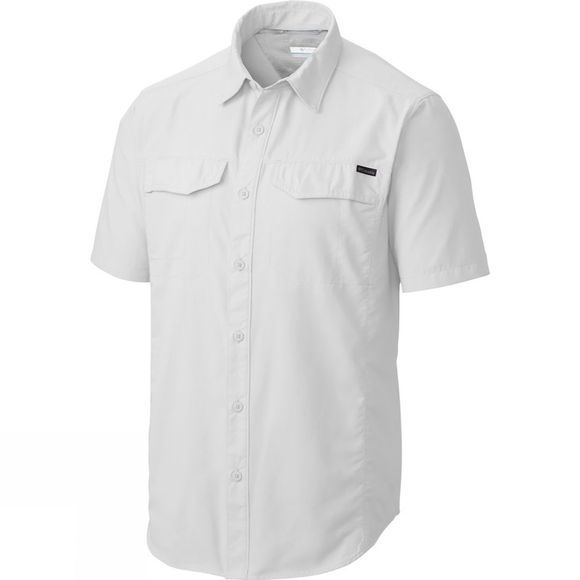 Columbia Mens Silver Ridge Short Sleeve Shirt - Big White